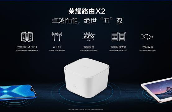 """卓越""""五""""双路由器 荣耀路由X2仅售149元"""