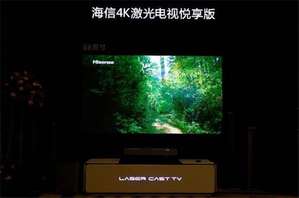海信推出全球首款88吋4K激光电视,传统电视面临巨大挑战
