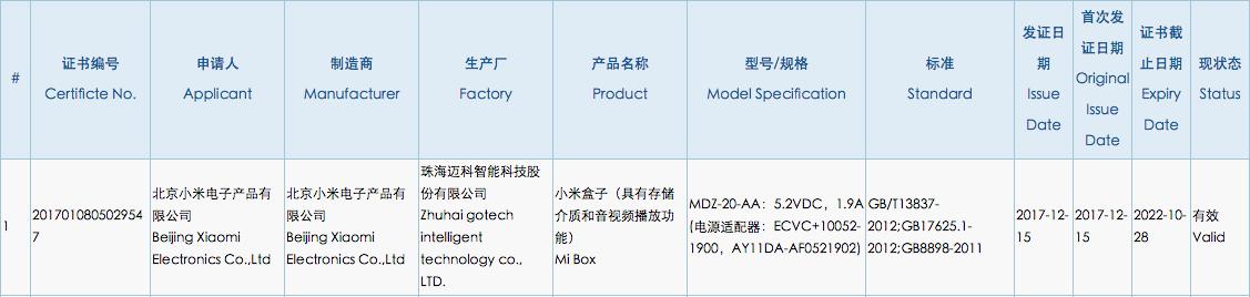 小米盒子新品曝光!小米盒子4终于要来了?