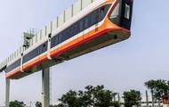 最快空中列车下线进入试运行阶段 最高时速70公里