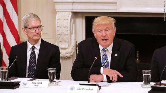 库克特朗普白宫密谈中美贸易 官方称会面顺利