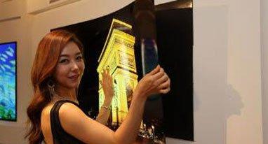 LG明年或发布和纸一样薄的电视 可以贴墙上