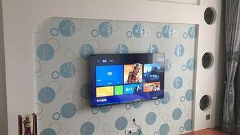 新房家电采购:MI 小米 小米电视3S  55英寸 开箱及壁挂安装(多细节图)