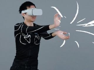 "VR游戏衣服?感知动作的衣服""e-skin"""