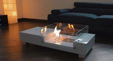 需要冬天里的一把火? 试试这款带壁炉的茶几