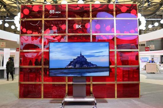 电视也有无边框 夏普今春推出无边框8K电视