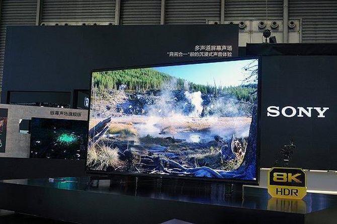 AWE展出的索尼8K新品苏宁开售,土豪们了解一下?