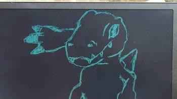还是有点乐趣!当广告牌写个字还不错的,猫太子12寸手写板