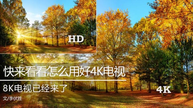 8K电视已经来了 快来看看怎么用好4K电视