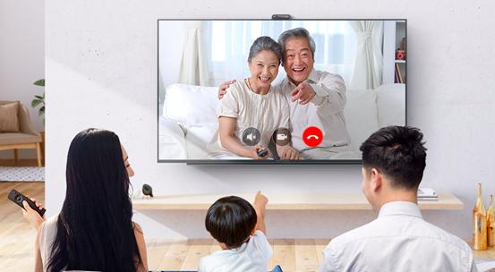 微鲸电视大屏视频通话,让你与家人不再有距离