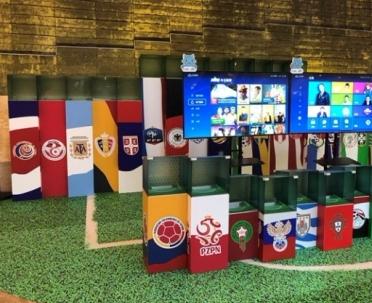电视猫联合线下商场开展世界杯概念活动