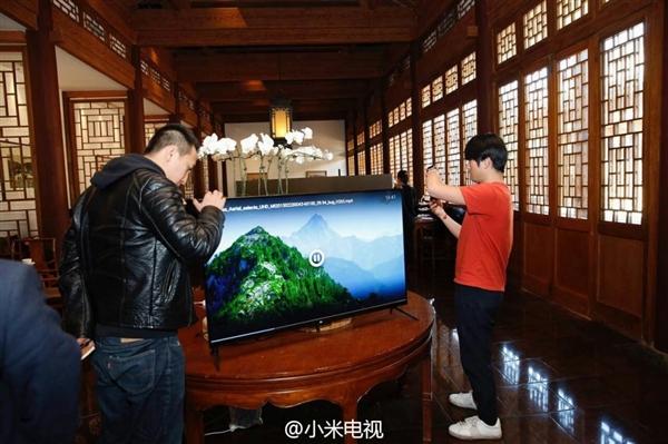 小米电视4国内首次亮相!4K/无边框/超薄