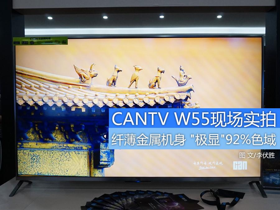 """""""极显""""92%色域 看尚CANTV W55现场实拍"""