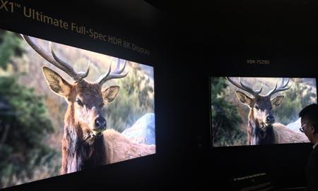 索尼发布逆天电视产品:8K分辨率+1万尼特亮度