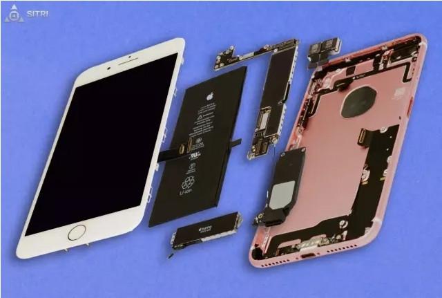 iPhone7 Plus的距离传感器与之前的设计有了很大的改变和突破,距离传感器的封装尺寸为2.90 mm x 2.50 mm x 1.25 mm,同iPhone6s Plus的封装尺寸相似。  从下图的封装对比照就已经可以看出iPhone7 Plus和iPhone6s Plus的明显区别。 Package Photo (iPhone7 Plus)  Package Photo (iPhone6s Plus)  下图是封装X-Ray的对比照,可以看出,iPhone7 Plus的封装更简单,采用的是Stac