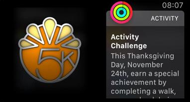 苹果推出感恩节健身奖励 走5000步获得专属表情