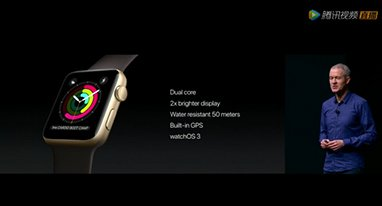2代Apple Watch发布 内置GPS模块使用更方便