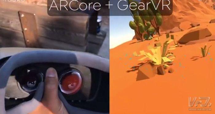 ARCore使Gear VR实现6DOF位置跟踪
