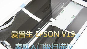 家庭入门款:EPSON 爱普生 V19超值型扫描仪 开箱初上手