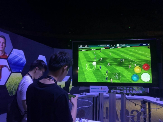 独家适配 海信成FIFA足球世界手游唯一合作电视品牌 [