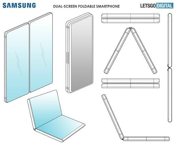可360度旋转 三星折叠屏手机专利图曝光