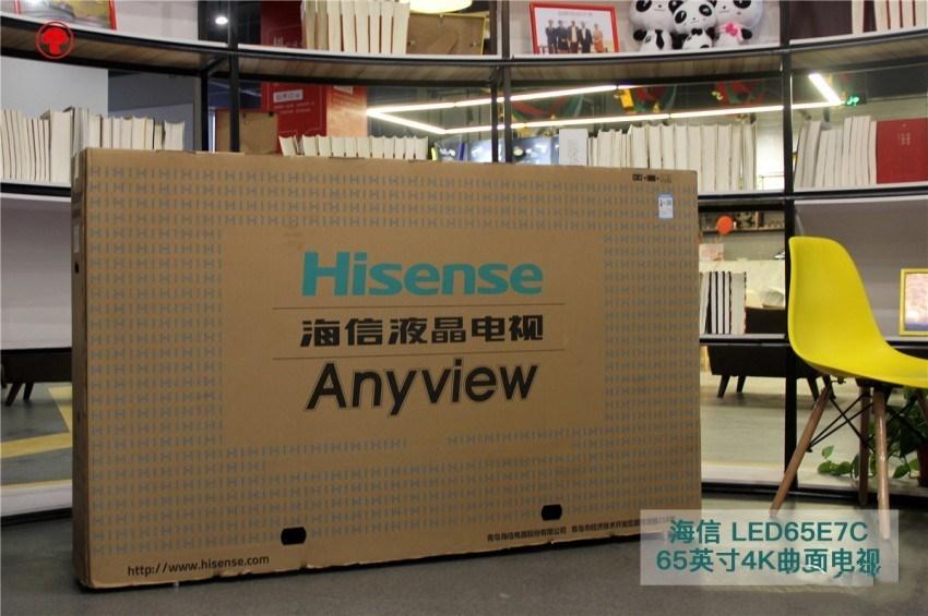 海信LED65E7C 65寸曲面电视开箱评测,高颜值和实力派的碰撞