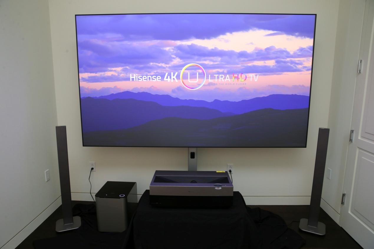 海信4K激光电视美国发布 下一代电视火力全开