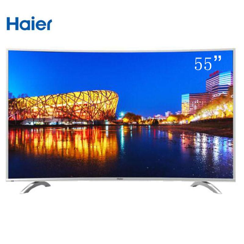 55寸真4K纤薄曲面电视海尔LQ55H7