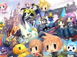 《最终幻想:世界》双版画面对比 PSV版载入更快