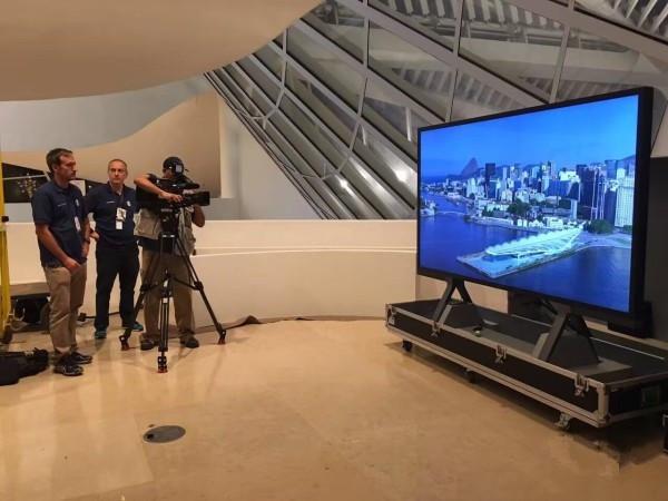 BOE(京东方)8K显示产品震撼亮相里约奥运