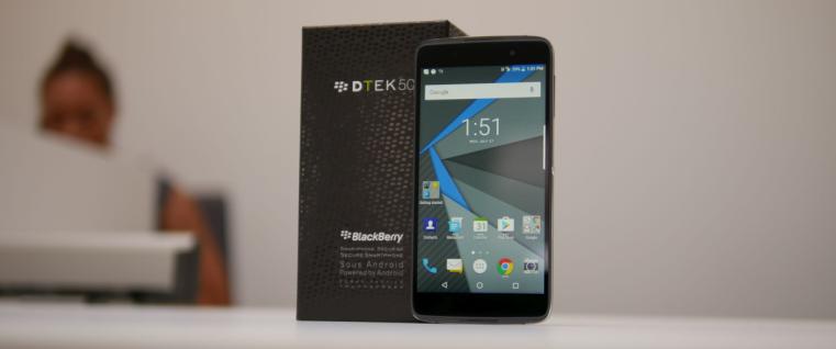 号称全宇宙最安全的手机?黑莓 DTEK 50 上手体验