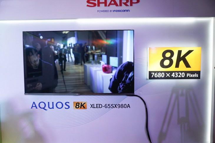 价格将更亲民 夏普65英寸8K电视亮相上海
