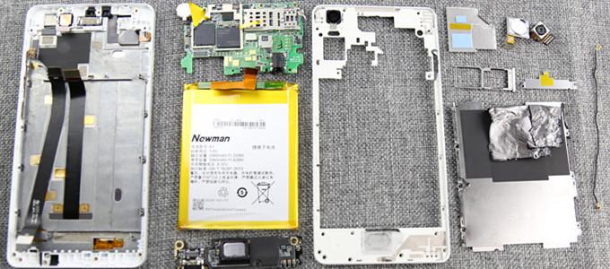 【91拆】纽曼纽扣手机拆机过程