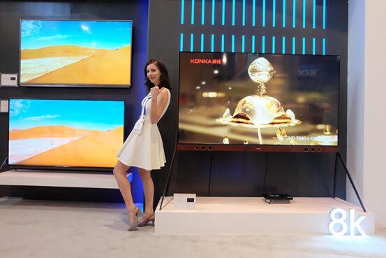 纯8K电视亮相CES2018,引领行业井喷式发展