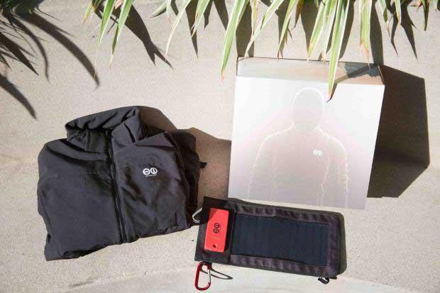 有了这款太阳能充电的夹克 再也不怕手机没电了
