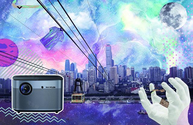 新晋网红私人影院 极米1080p微型投影机H2