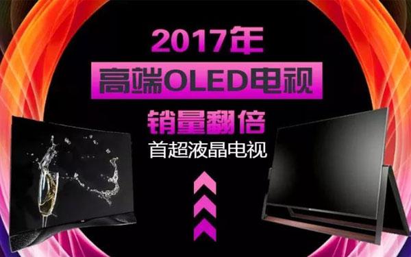 2017年高端OLED电视销量翻倍,首超液晶电视