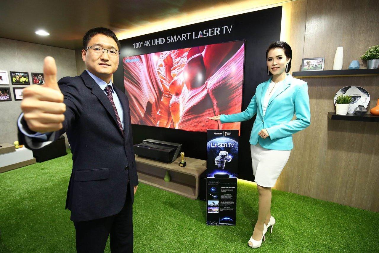 球迷福利!海信在泰国发布100英寸超高清电视