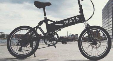 这款折叠电动自行车来自丹麦 配液晶显示屏