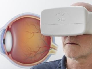 手机结合Viewi VR盒子使用可测验青光眼