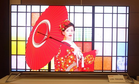 夏普70XU30A如何安装电视直播APP?