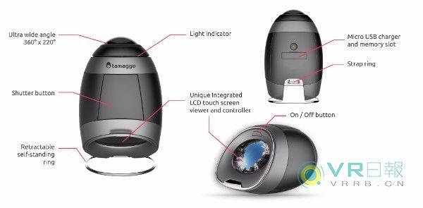 360度内置屏幕相机Tamaggo 360LiveCam上市