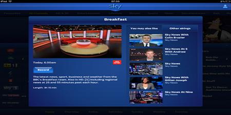 天空电视台推出新产品SkyQ 可通过多个设备观看节目