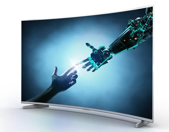 大屏高端电视推荐  创维 65h7 4k超高清电视采用全面屏设计无边框设计